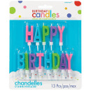 13 letter candles Happy Birthday Vivid color