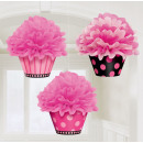 3 Fluffy-Deko-Cupcakes Oh So Fabulous 26 cm