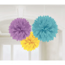 3 kule Fluffy Deco Baby Shower 40,6 cm