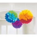 3 Fluffy Dekobälle Rainbow 40.6 cm