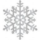 Lógó Dekoráció Nagy Hópehely Karácsony 37 x
