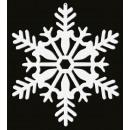 4 hanging decorations Snowflake white-glittering 1