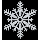 Hanging decoration snowflake silver-glittering 28