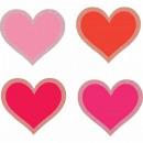 50 glitterknipsels Valentijnsdag 6 cm