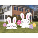 5 lawn signs Easter bunny and eggs plastic