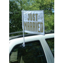 Car Flag Just Married 35.5 x 45.7 cm