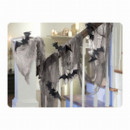 Decorative netting with glitter bats 61 x 457 cm