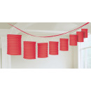 Lampion garland piros 365 cm