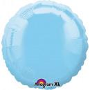 Standard kör világos kék gyöngyházfólia léggömb la