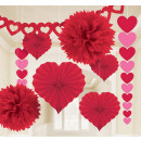 Deco set Valentine's Day paper 9 pieces