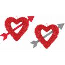 Strzałka w serce przez serce 27,9 x 33 cm
