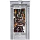 Deurversiering Spookhuis kunststof 165 x 85 cm