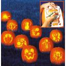 10 pumpkin carving templates Halloween 27 x 19 cm
