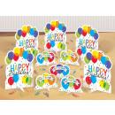 Tafelblad set Balloon Bash 11-delig