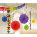 Deco set rainbow 18 pieces