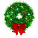 Klatergoudkroon met lus Kerst 15 cm