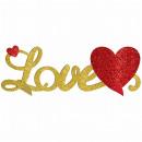 Dekoracja stołu 3D Love glitter 35 x 11 cm