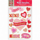 15 window stickers Valentine's Day embossed wi