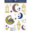 Ablak díszítés Eid glitter 15 db