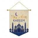 Banner Eid Ramadan Kareem textil 28 x 38 cm