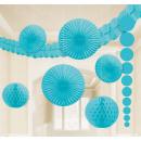 Deco-set azuurblauw