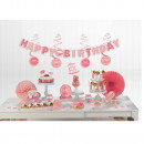 Mini Deco Set Birthday Accessories Pink Paper 37-