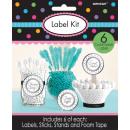 6 label sets silver