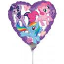 9'' My Little Pony Herz Folienballon lose 23 cm