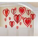 16-częściowy zestaw do dekoracji serca 3D wiszący