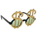 Signe dollar lunettes amusantes teinté
