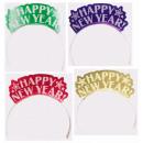 12 Tiar Szczęśliwego Nowego Roku 19 x 14 cm