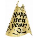 Kapelusz party Szczęśliwego Nowego Roku złoto 23 c