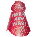 Kapelusz imprezowy Happy New Year folia brokatowa