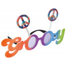 Lunettes amusantes Groovy 60's teintées