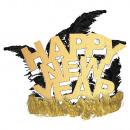 Tiara goud glitter veer Gelukkig Nieuwjaar