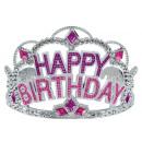 Tiara Happy Birthday Plastic 8,9 cm