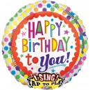 mayorista Alimentos y bebidas: Sing-A-Tune Happy Birthday para ti Dots Foil Ballo