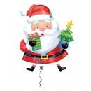 SuperShape Santa embalado con un globo de papel de