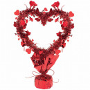 Table decoration deco heart tinsel 35 cm