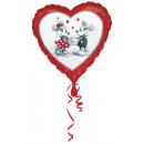 Standard Mickey & Minnie heart foil balloon lo