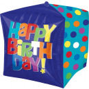 wholesale Beverages: Cubez Bright Happy Birthday Foil Balloon Packed