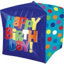 mayorista Alimentos y bebidas: Cubez Bright Happy Birthday Foil Balloon lleno
