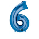 SuperShape 6 kék fólia ballon 55 x 88 cm-es csomag