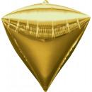 Diamondz gold Folienballon lose 38 x 43 cm