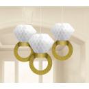 3 Honeycomb Decoration Wedding Decorations, 30.4 c
