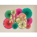 Decoratieset van papierladen Aloha