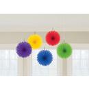 groothandel Verkleden & feestkleding: 5 vakken voor decoratie van papier Rainbow ...