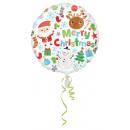 Szabványos Boldog Karácsonyi Ikonok Fólia Balloon
