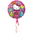 Ballon feuille arc-en-ciel standard Hello Kitty ve