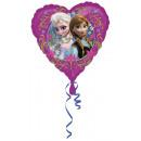 grossiste Articles de fête: Ballon en feuille de coeur frozen standard emballé